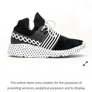 Nwt black and white polka dot supra sneakers
